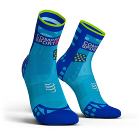 Compressport Pro Racing V3.0 Ultralight Run High Calcetines, fluo blue